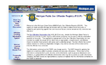 ... of the Michigan State Police Sex Offendor Registry website. Sex Offender ...